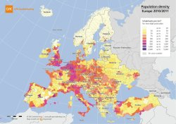 thelandofmaps:  Population density in Europe [x-post /r/europe]CLICK HERE FOR MORE MAPS!thelandofmaps.tumblr.com