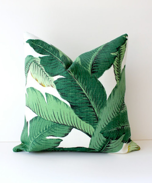 r-ozeate:  befairbefunky:  Musthave ~ Banana tree leaf Pillow  ☆