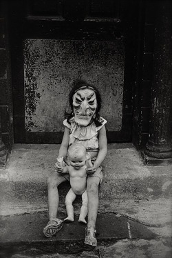 living-sickness:     Masked Child with a Doll, NYC, 1961 (Diane Arbus)