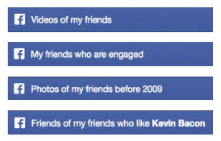 Facebook is suggesting some new ways to search with Graph Search, beyond just finding friends.