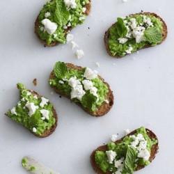 food snacks avocado crostini feta cheese feta