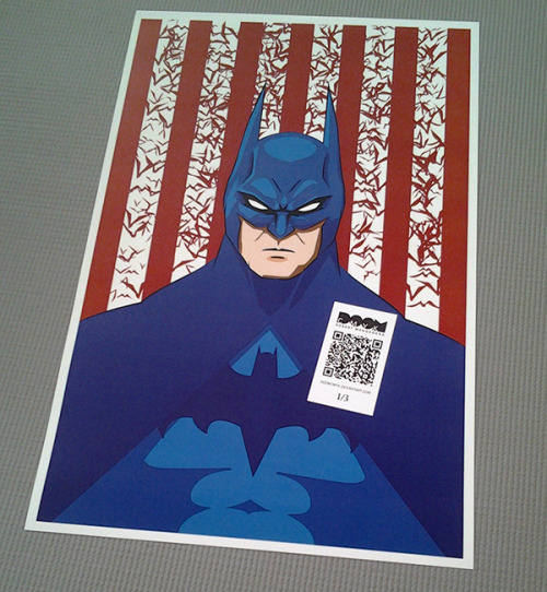 """Red, White and Batman"" aka ""United States of Batman"" Limited Edition 10 prints on Saturday at etsy.com/shop/DoomCMYK"