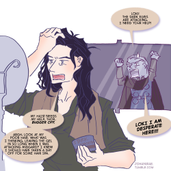 Thor 2 The Dark World Trailer | Loki's hair problems Asgard PSA: Leaving product in your hair for a few days while you conquer the world hurts your follicles and causes hair problems!
