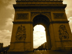 Arc de Triumphe. It was so amazing to see something I had been learning about all year. What amazing architecture. I beg you all to visit Paris.