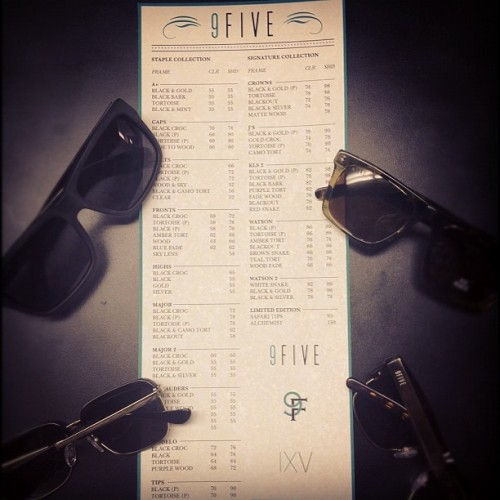 Just updated the menu at the #9FIVE Showroom #ixv #9F #worldwide (at 9FIVE Showroom)