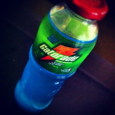 hot weather fine with blue bolt #gatorade