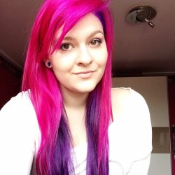 New pink&purple hair <3