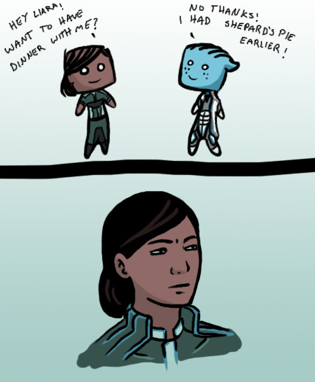 Mass Effect Monday: Not sure if… fishbone76:  calicojill:  Not sure if…  WAIT!  WHAT?  O~O