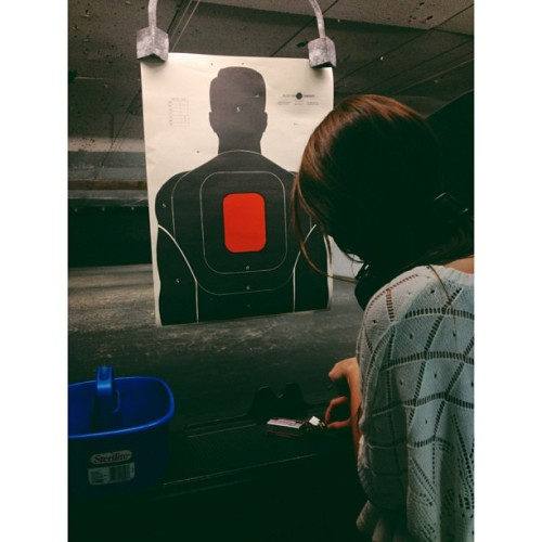 Jenna's birthday present 🎈 (at Insight Shooting Range)