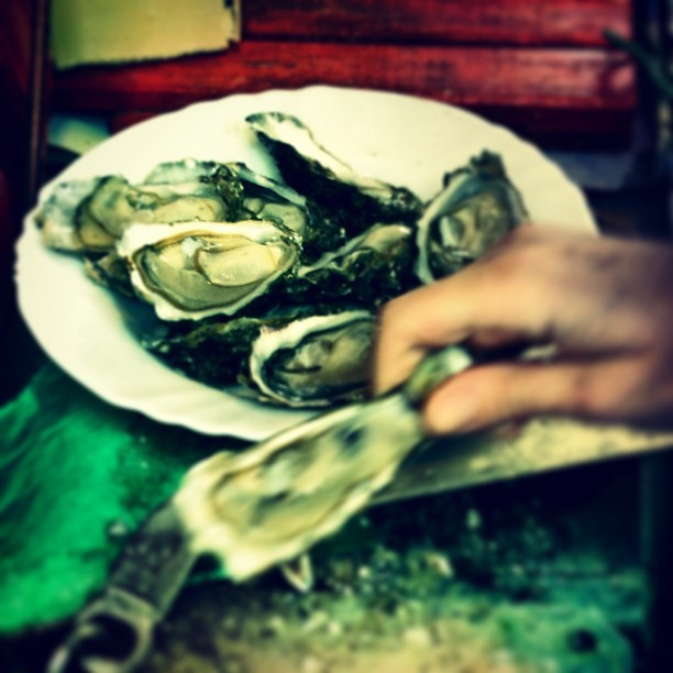 Why not enjoying some fresh oysters from  the Baron Rouge in Paris for breakfast? (à Le Baron Rouge)