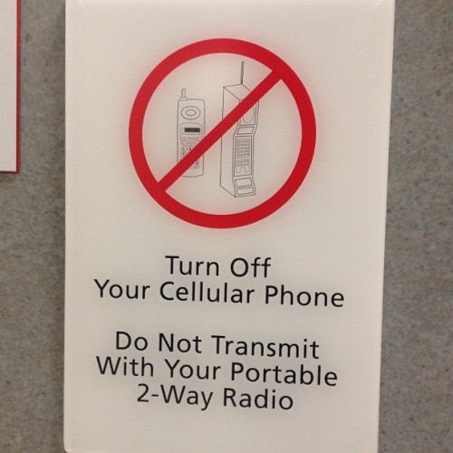 If this hospital's technology is as up-to-date as their signage I have nothing to worry about.