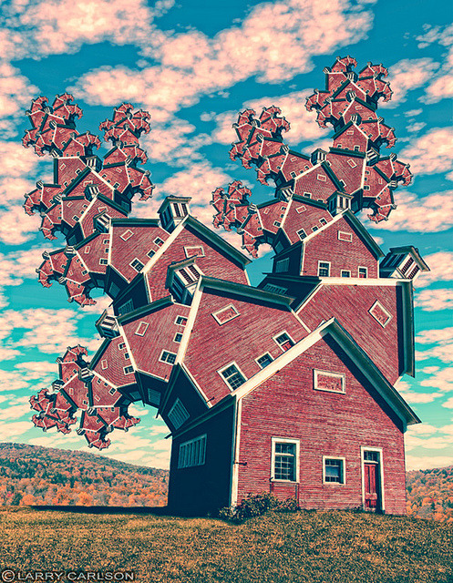 larrycarlson:  LARRY CARLSON, Red School House, digital photography, 2010. on Flickr.