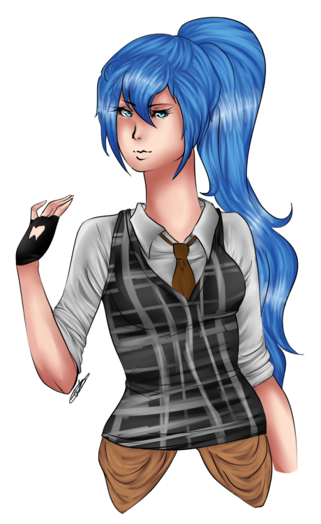 Yay my commission was finished. My Gaia online character in her day off outfit. By LeooftheSun on Gaia Clicking the pic takes you to the DA upload and the source to the artist's profile