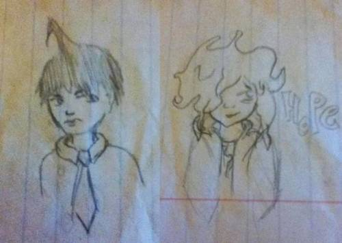 whoops, I dangan doodled in class today