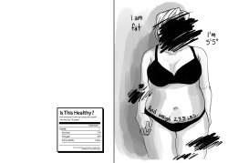 My art comic weight body image Plus size artists on tumblr miad
