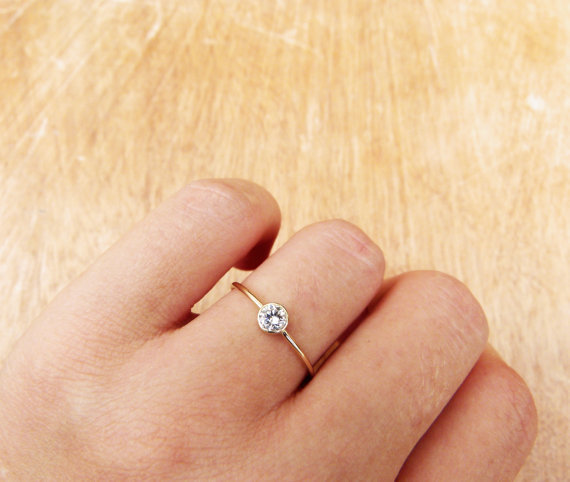 Also obsessed with these homemade engagement rings.