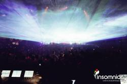 insomniacevents:  Laser rays fly overhead at White Wonderland!