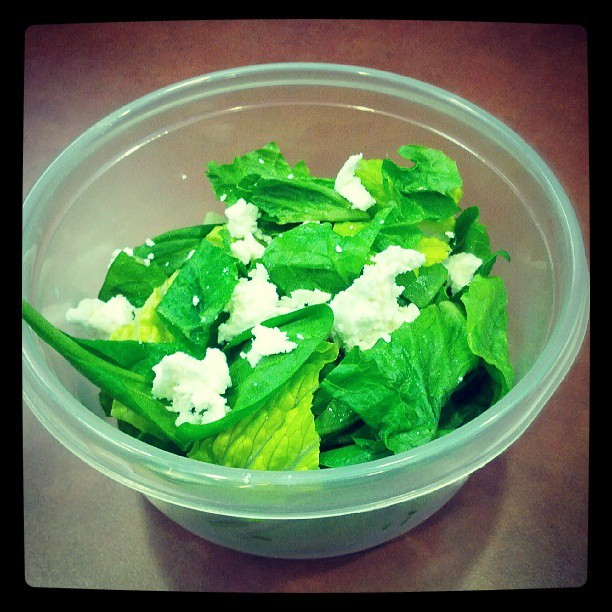 Spinach salad and goat cheese!  #healthy #fresh #fitness #instafood