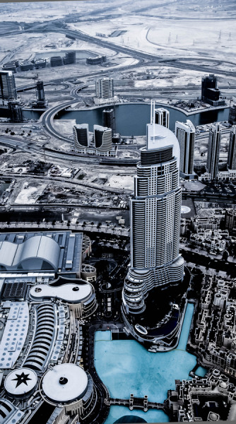 Toy Town. View from the Bhurj Khalifa 124th floor by Julian John