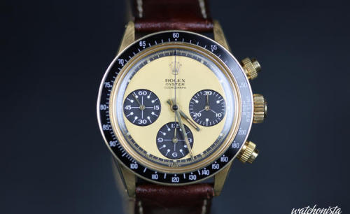 (via Geneva Spring Auctions 2013: Antiquorum - Rolex Daytona Paul Newman 6263 Lemon Dial sold at CHF 699'000 - Pictures Album | Watchonista Blog)