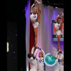 The most perfect stunt group 💙 @peyton_mabry @shaqdaddie