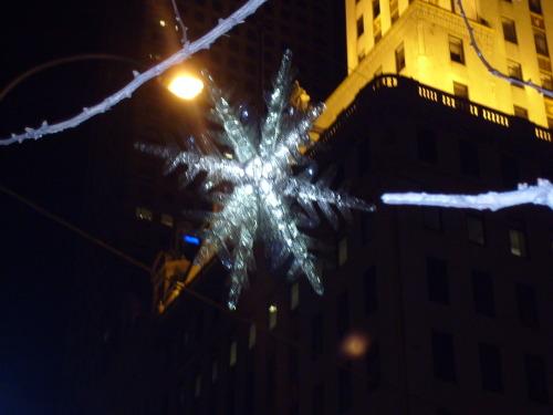 9 days till Christmas! This snowflake hangs at the intersection between 5th and 57th.