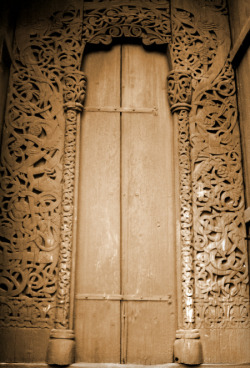 Old norse carved wooden door, by me.
