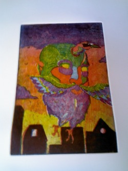 Three color soft ground etching.