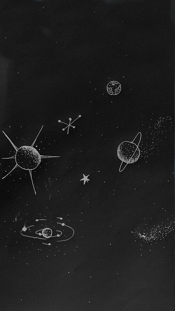 galaxies stars and moon - photo #33