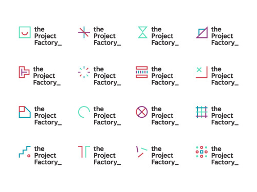 I liked this identity for the The Project Factory by Daniel Dittmar. Check it out, give it a chance — you probably will too. Or maybe not, no drama.