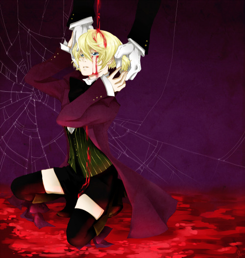reapergrellsutcliff:  Alois Trancy and Claude Faustus ((The original art can be found here - kuroshitsuji: Trancy by MinestrelKa - Please go show the artist some love! - Do not remove the artist-source information!))