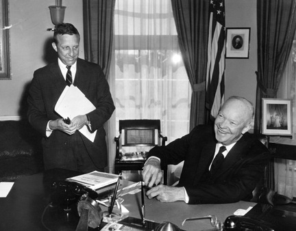 Today in history, President Dwight D. Eisenhower signed the act admitting Hawaii as the 50th state. Photo: President Eisenhower signing the The Hawaii Statehood Bill. 3/18/59. -from the Eisenhower Library
