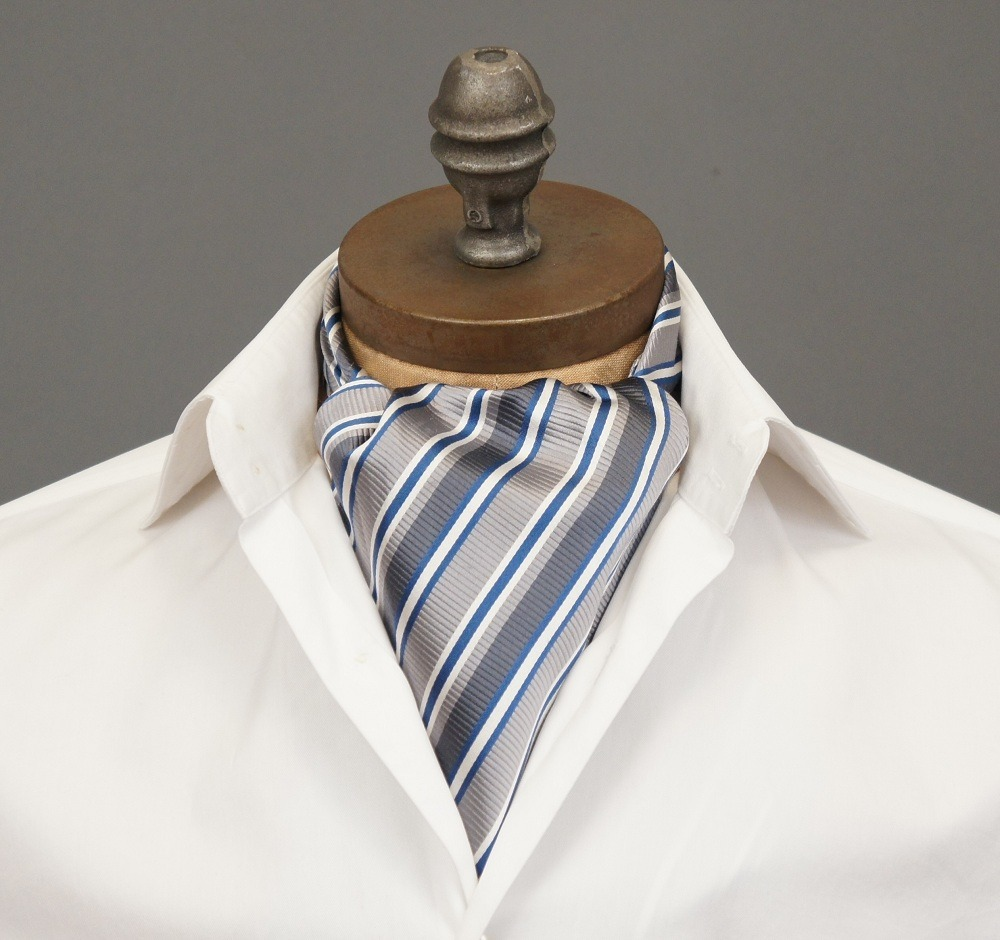 "ascottie:  New Ascot Arrival! Introducing the Dorian Ascot Tie by Ceravelo.   *Note: This ascot is ONE OF A KIND. If you click the link and it displays as ""Temporarily Unavailable,"" it has been sold. However you can request to be notified if/when we create more of this design."
