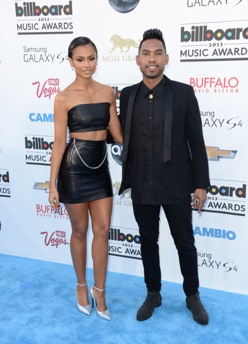 "istan4migmoney:  Miguel and Nazanin arrive on the BBMA Cambio ""Blue"" Carpet"