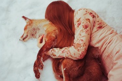 fairy tale about a girl who found dead animal in the forest and shared it with her warmth by laura makabresku on Flickr.