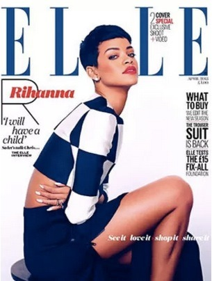 Rihanna is featured in the latest issue of Elle magazine in the UK and she talks babies! Click the pic to read more!