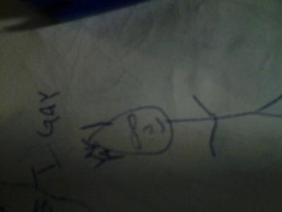 I asked my friend Darren to draw a portrait of me and this is what happened.  I posed and everything.
