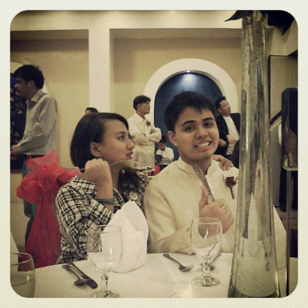 Me and the boyfriend at Popo's wedding (Nakpil-Tenazas nuptials)
