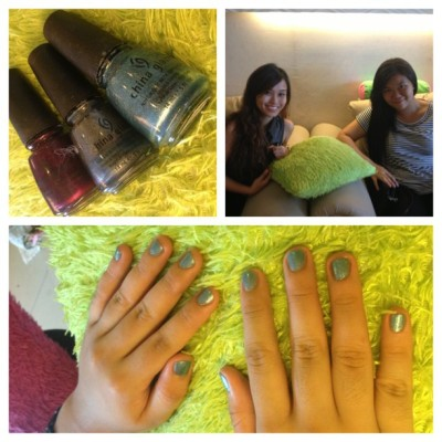 Having my nails done with Ate @nicolegracesalvador <3 #potd #love #igdaily #girlythings #manipedi #nofilter #picstitch (at Godess Nail Spa, C&B Mall, Marikina City )