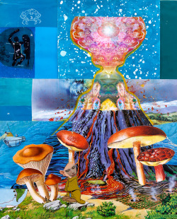 larrycarlson:  LARRY CARLSON, Magic Magma, collage, digital prints, and paint on paper, 14x11in. 2011.