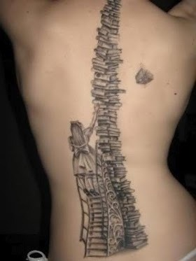 booksandpieces:  Another book tattoo of wonderment.