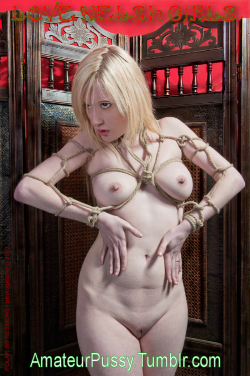 amateurpussy:  Sexy Blonde restrained by several Half Hitches