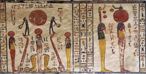 From the Book of the Earth in the tomb of Ramesses VI.