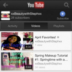 New video up on xxBeautywithStephxx go check it now!!!!! It's my April favorites. Link in bio http://youtu.be/ROfnM5UABZU