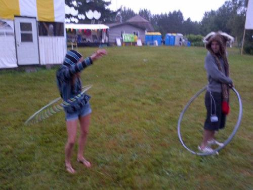 lsdbarbiegirl:  Taking a trip down memory lane, me hooping at a music festival, called Messtival, in Amagance, NB. I've met so many amazing people at this music festival, I wish i could remember all of your kind souls. LSD&hula hooping Messtival, 2012