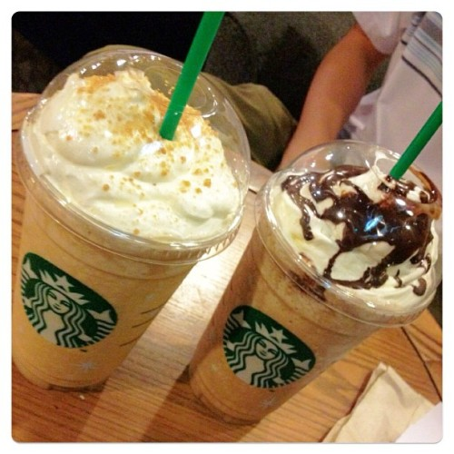 Toffee Nut & Dark Cherry Mocha Frappuccino! XD thanks Darryl for the caffeinated Tuesday night! :)