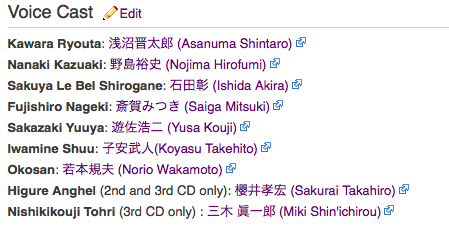 hatoful boyfriend drama cd voice cast yes, this is real life