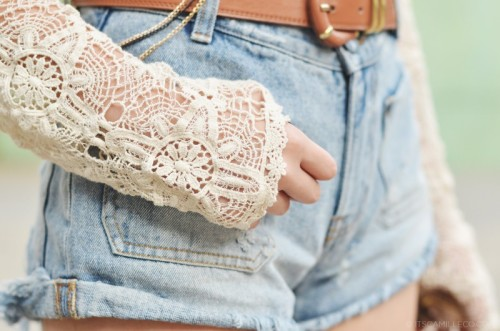 pretty girl fashion Cool lace beautiful hippie gorgeous style hipster wonderful boho lovely heart shirt outfit Clothes fashionable trend trendy details girly belt clothing jean short