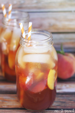 bakeddd:  peach iced tea click here for recipe