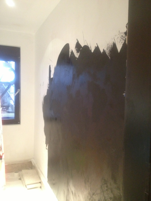 Starting mirror finish  Polished Venetian plaster St Johns Wood